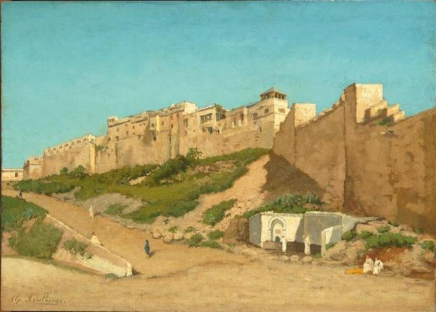 Alphonse Asselbergs, La Casbah d'Alger, vers 1873-1874. © RMN-Grand Palais (musée d'Orsay) / H.Lewandowski